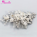 Rhinestone Bridal Hair Comb Ceremony Headpiece Wedding Dress Hair Accessories Modern Classic Crystal Hair Comb Jewelry