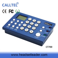 CID headset telephone dial pad wired lcd display headset telephone