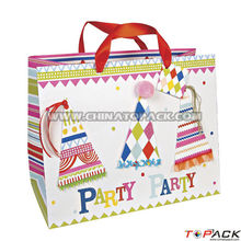 Decorative handmade paper gift bags
