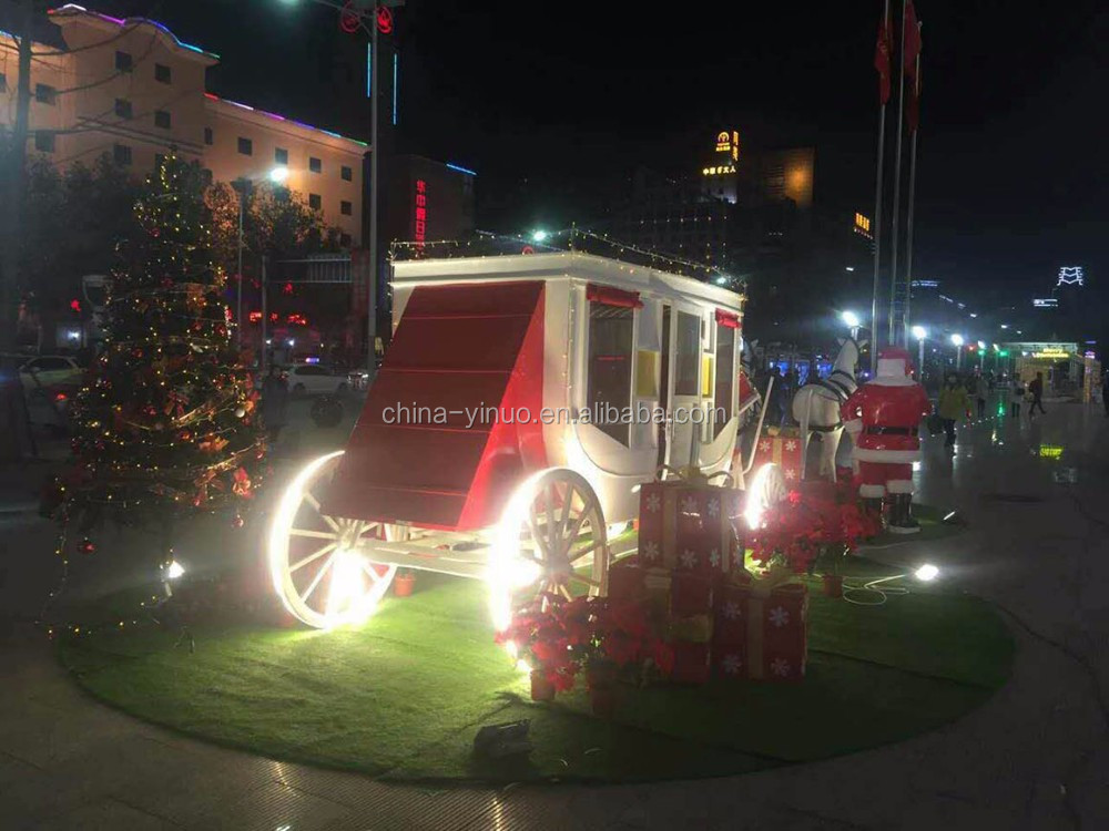Christmas carriage Royal horse drawn carriage for decoration royal wagon