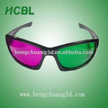 Green magenta 3D Glasses nanglyph type 3d picture porn glasses