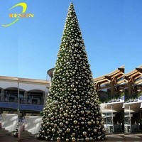 12 Foot Giant Lighting Christmas Tree, White Led Artificial Christmas Tree
