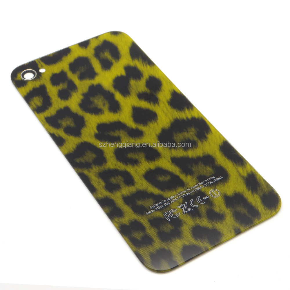 yellow/tiger/pink/grey color Leopard Hard Case Cover For Apple Iphone 4 4g