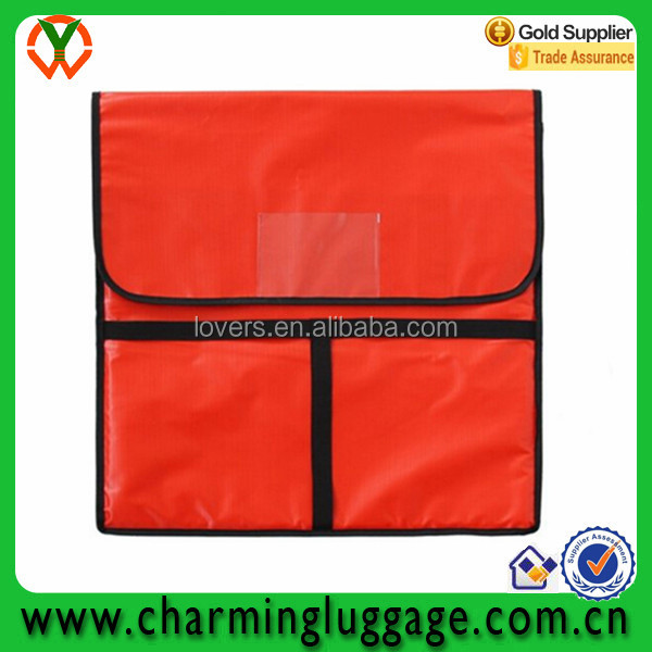 New fashion polyester insulated thermal food carry bag for pizza