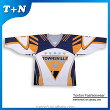 wholesale blank custom breathable mesh sublimation printing hockey jersey