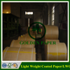 Hot sale high quality 40-80gsm LWC paper light weight coated paper in sheets/rolls