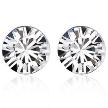 Hot Sale Rhodium plated 7 days Made With Swarovski Elements stud earrings