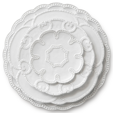 Wholesale Ceramic Porcelain <strong>Plate</strong> Embossed White <strong>Plate</strong> For Wedding Party