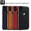 New Trending Business Style Mobile Phone Back Cover TPU PU Leather Case For Iphone X