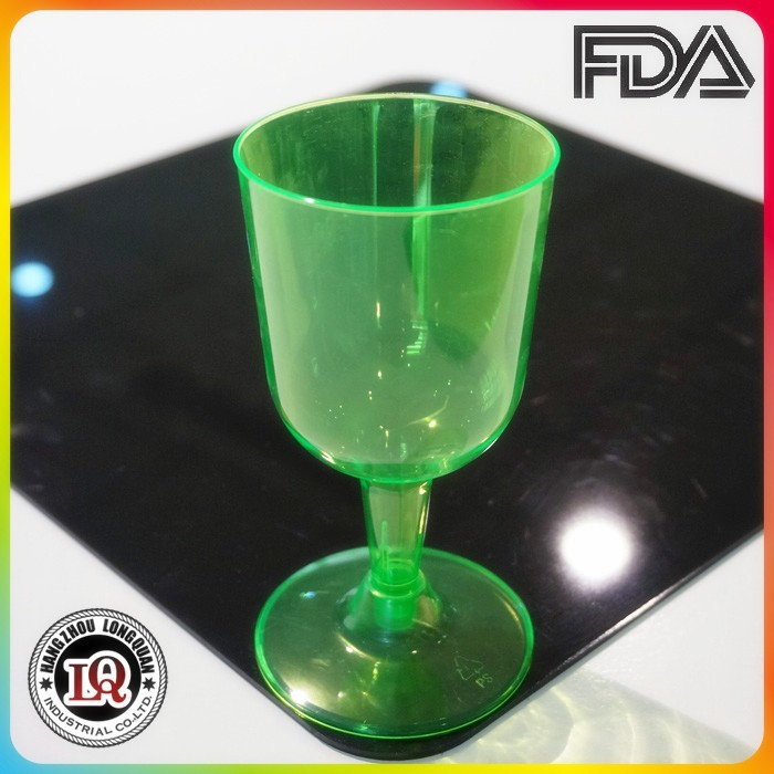 Deluxe disposable Polystyrene red wine glass
