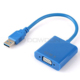 USB To VGA Port Convert Cable Male To Female USB 3.0 To Vga 1080P Video Cable Converter