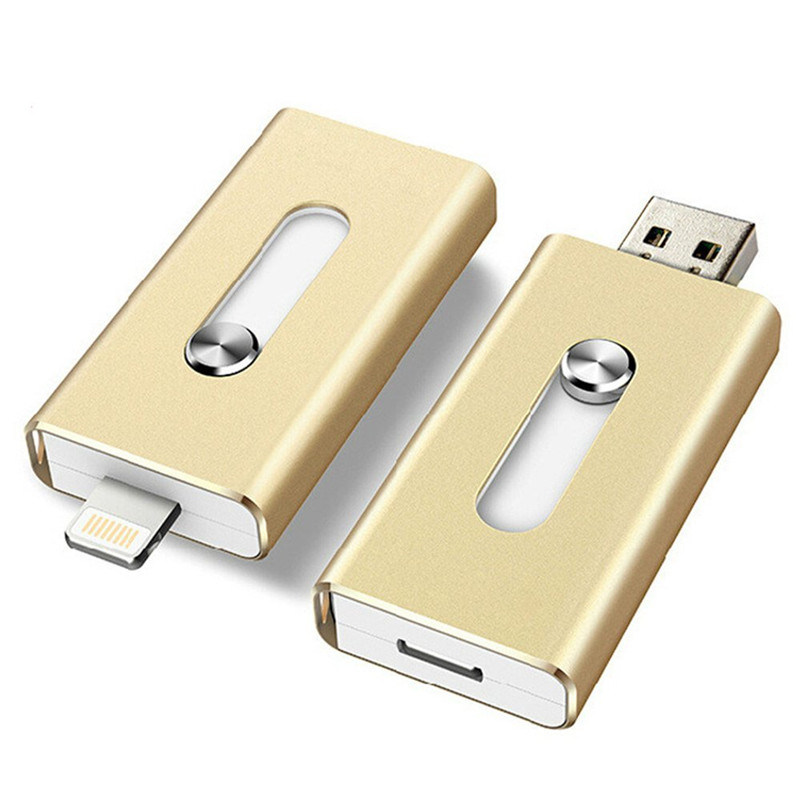 128GB 64GB New OTG Dual USB Memory Flash Drive U Disk For IOS iPhone iPad/PC