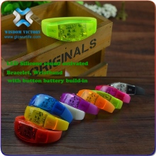 2015 Worldwide Famous Logo Printed Promotional Light Bracelet,led bracelet control dmx