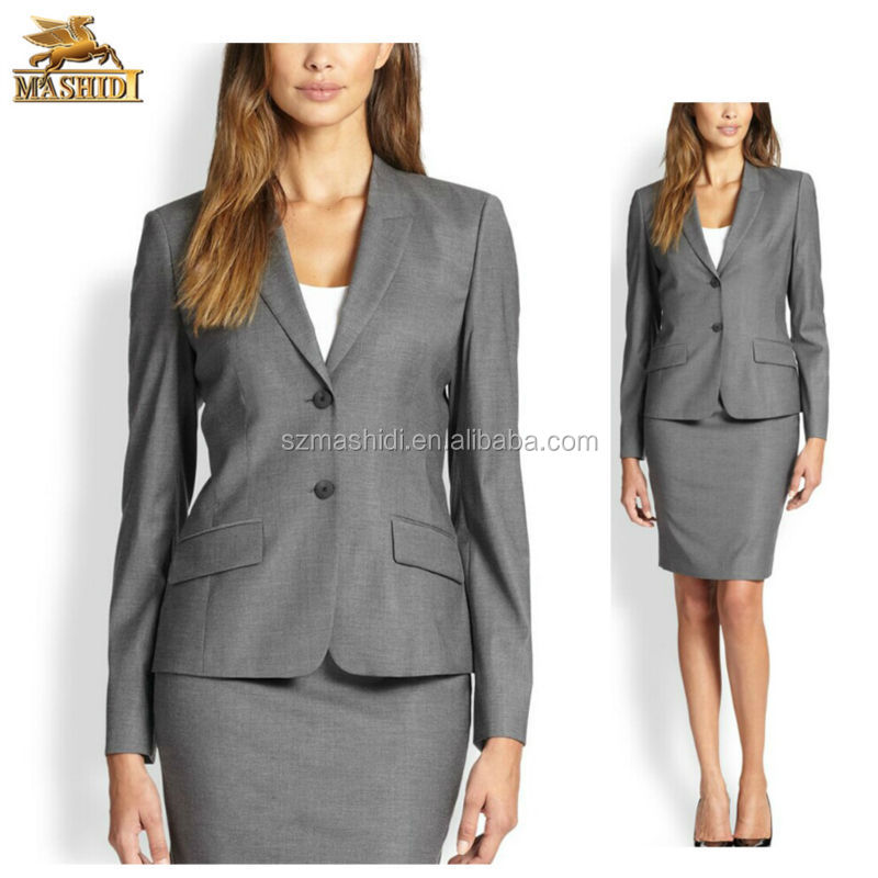 stylish design ladies formal skirt suit for business women formal wear