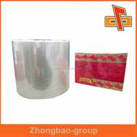 High quality transparent plain bopp film manufacturer in china for tissue box packing