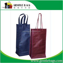 Eco-friend china supplier non woven recycled folding wine bottle bag wholesale