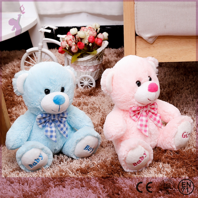 Alibaba wholesale custom design promotional gift pink and blue teddy bear