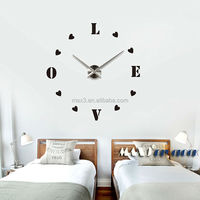 Fancy design new diy 3d home decoration wall mounted clock