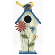 Beautiful painted little small wooden bird houses