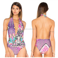 2014 new young girl swimsuit models thong one piece swimsuit