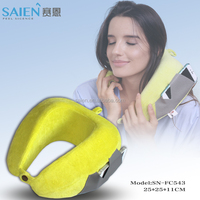 With phone pocket foldable traveling U shape neck rest pillow