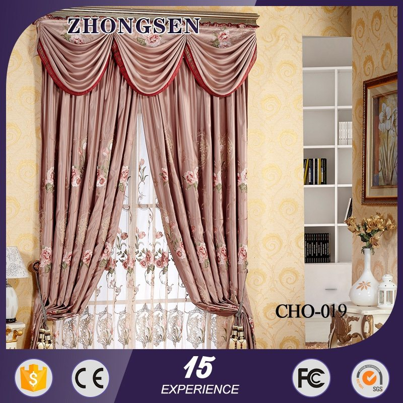 Hot sell satin percale bleached hotel block out curtains