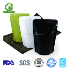Wholesale custom printed reusable ziplock black aluminum foil bag, aluminum foil pouch