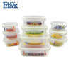 Different Size Long Rectangular Big Large Glass Food Storage Containers with Lids