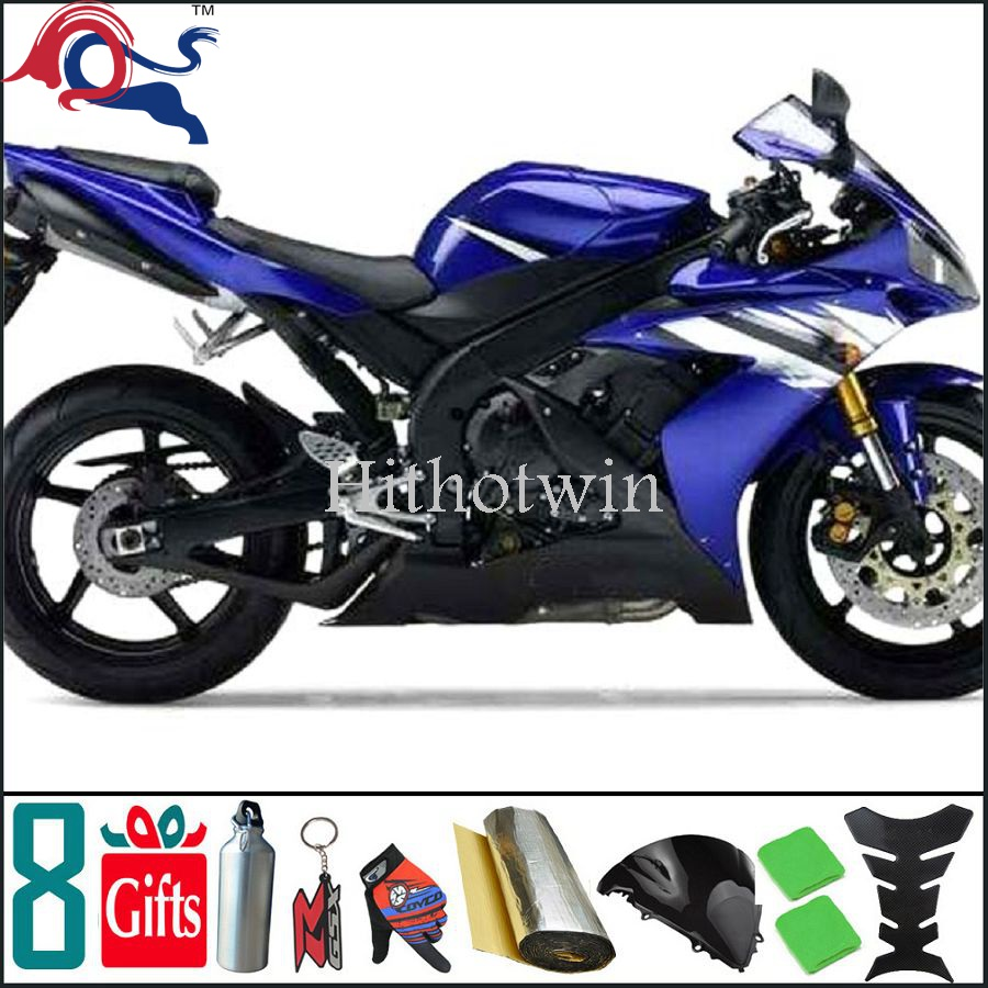 For yamaha blue black YZF1000 1996 1997 1998 1999 2000 2001 2002 2003 2004 2005 2006 2007 Fairing Bodywork Plastic Kit Set 5