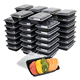 FDA Certificated Plastic Stackable Reusable Microwave Freezer Safe Meal Prep Containers restaurant food containers with Lids