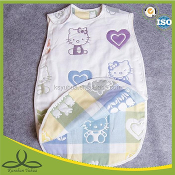 Muslin breathable baby sleeping bag