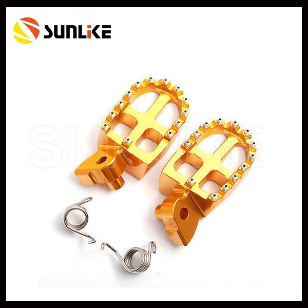2015 Year New Design Alloy Aluminum 7075 KTM 50cc Footpegs for Dirt Bike