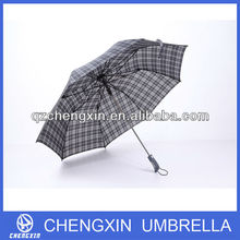 auto open and auto close check design two foldable outdoor umbrella