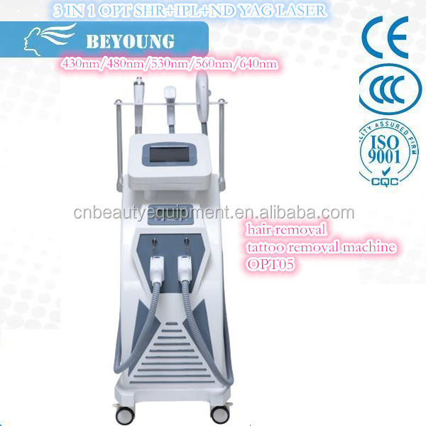 factory direct sale E light ipl rf nd yag laser 4 in 1
