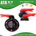 customized handle color free logo rubber seat plastic butterfly valve for water pipe