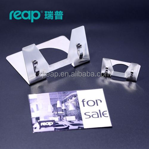 Reap Bouloge aluminum L-shape desk sign holder card display stand price tag service Label store business restaurant