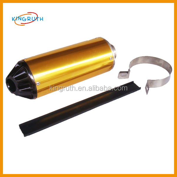 2017 Hot sale high quality gold&black for dirt bike motorcycle exhaust pit bike