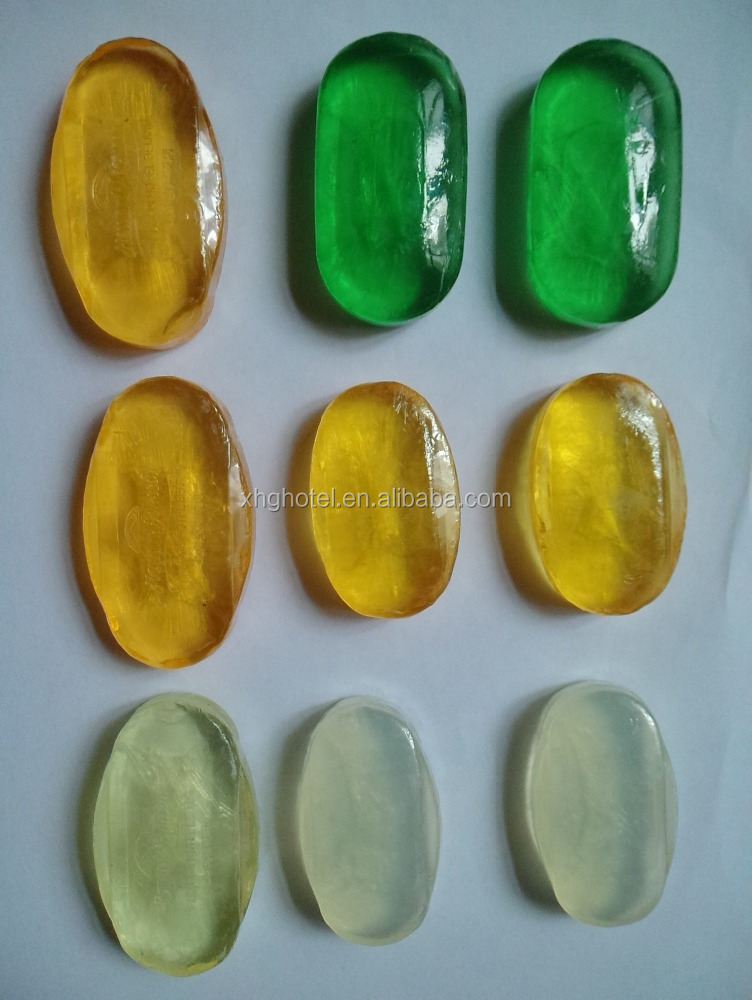 High End Transparent Hotel Soap, Individual Travel Size Soap
