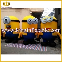 Good Quality Big Inflatable Minions Character, Inflatable Despicable Me Minions Cartoon For Advertising
