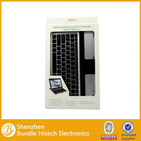 Shenzhen Aluminium Alloy Portable Wireless Bluetooth Keyboard for Samsung Galaxy Note 10.1 N8000 with Holder