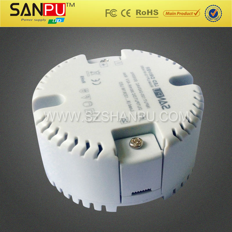 constant current round shape led driver 12w 350ma pfc led power supply