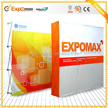 Expomax Promotion Advertising pop up display 8ft folding pop up banner stand