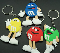 hot sale Official M&M's Chocolate Keychain keyrings for promotion