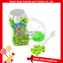 Green Apple Ball Shape Bubble Gum Fruits Flavor Chewing Gum Base in tin can