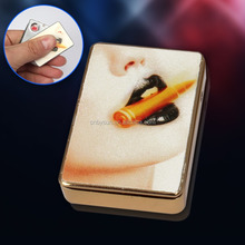 Zinc alloy Electronic usb lighter cigarette & Smoking USB Lighter
