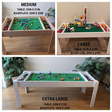 Children Playing Room Furniture Kids Building Blocks Table Lego Table With Storage