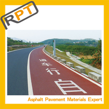 The special technology on color asphalt road