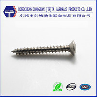 Dongguan supplier ni plated stainless steel oval head self tapping screw