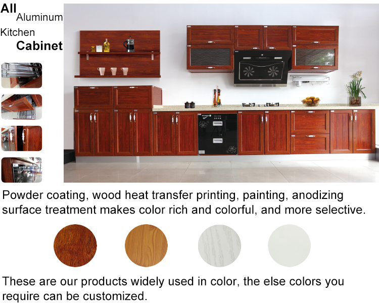 china all aluminum customized kitchen cabinet