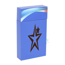 blue recycled ribbon packaging paper cigarette pack